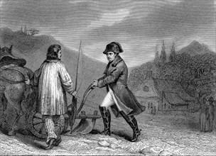 Napoléon Ier maniant une charrue à Sainte Hélène