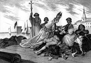 Monseigneur de Belzunce auprès de pestiférés