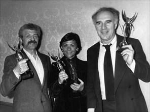 Yves Robert, Danièle Delorme et Michel Piccoli, 1978