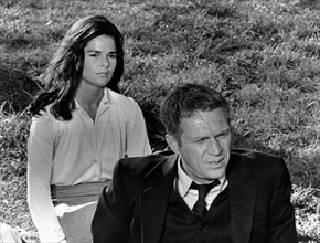 """Ali Macgraw, Steve McQueen, """"The Getaway"""" (1972) Warner Bros.  File Reference # 33536_830THA  For Editorial Use Only -  All Rights Reserved"""