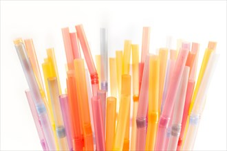 Drinking straws isolated on white.