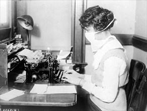 "An epidemic of ""Spanish Flu"" spread around the world, 1918"