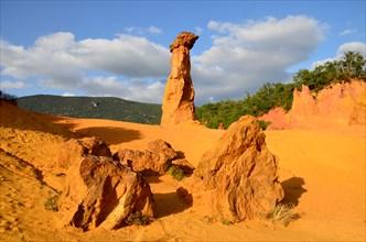 Colorado Provencal, ochre quarries near Rustrel, Luberon, France.
