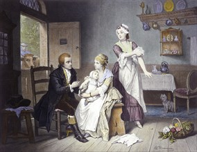 Edward Jenner Vaccinating Child, 1796