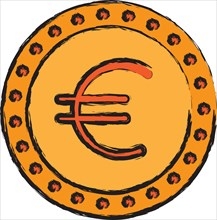 coin euro money cash currency icon