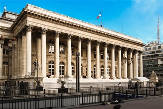 The Bourse of Paris- Brongniart palace ,Paris, France.