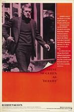 "Studio Publicity: ""Bullitt"", 1968 Warner Brothers Poster  Steve McQueen, Jacqueline Bisset, Robert Vaughn  File Reference # 31780_739"