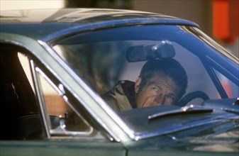 """Studio Publicity Still from """"Bullitt""""Steve McQueen in 1968 Ford Mustang GT 390(1968) Warner Bros.-Seven Arts"""