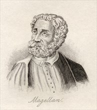 Ferdinand Magellan 1480 1521 Portuguese maritime explorer From the book Crabb s Historical Dictionary published 1825
