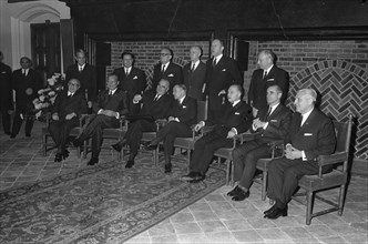 EEC Summit in The Hague. Opening. Rumor, Brandt, Pompidou, De Jong, Eyskens, Chaban Delm and Werner, Moro, Thorn Date: 1 December 1969 Location: The Hague, Zuid-Holland Keywords: Openings, conferences...