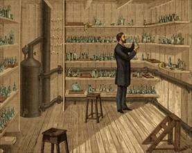 Louis Pasteur in Hot Room, 1884