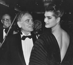 Apr. 15, 1985 - BROOKE SHIELDS and disigner Pierre Cardin in New York 1985.(Credit Image: © Globe Photos/ZUMAPRESS.com)