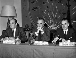 Georges Pompidou at a press conference
