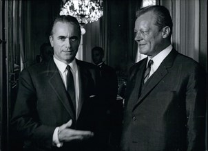 Jul. 04, 1969 - Germany's Minister of Foreign Affairs Willy Brandt met with Prime Minister Chaban-Delmas while in Paris for a day.