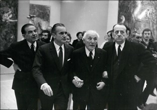 Dec. 12, 1969 - A Chagall Exposition opened this morning in the Grand Palais which was overseen by Prime Minister Chaban-Delmas