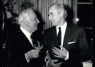 Apr. 06, 1971 - Marc Chagall Awarded Legion of Honor by Jacques Chaban-Delmas