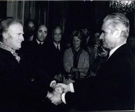 Sep. 16, 1971 - Chaban-Delmas Congratulates Legion of Honor Awardee Y. Menuhin