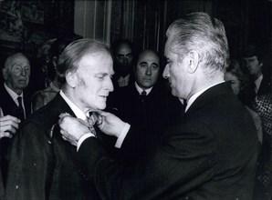 Sep. 16, 1971 - Chaban-Delmas Awards Yehudi Menuhin the Legion of Honor