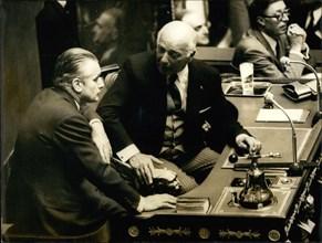 May 23, 1972 - Jacques Chaban-Delmas opened the general political debates at Palais Bourbon this afternoon.