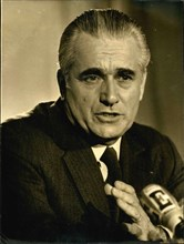Apr. 13, 1974 - Jacques Chaban-Delmas shared his campaign strategy with journalists during a press conference that he held at the Congress Palace in Paris.