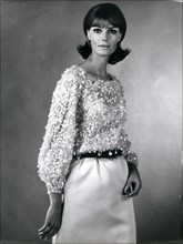 Dec. 20, 2011 - Fashion Collections - OPS:- A Bloused top ib Nylfrance muslin from Bucol completely encrusted in sequine and pearls, in the colours of the rainbow and worn with a green skirt (mention ...