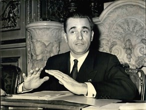Feb. 15, 1960 - M. Chaban Delmas speaks of his forthcoming visit to Moscow – M. Chaban Delmas, President of the National Assembly (Speaker of the Parliament) held a press conference this aftern...