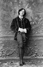 Portrait of Oscar Wilde, the Irish playwright, novelist, essayist, and poet. Photo by Napoleon Sarony, c.1882