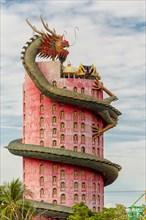 The dragon tower temple, Wat Samphran, in Nakhon Pathom, Bangkok, Thailand