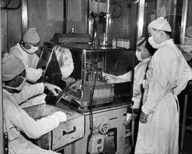 Bottling typhoid vaccine ca. 1944