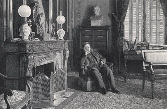 LOUIS PASTEUR (1822-1895) French biologist and chemist at his Paris home about 1890