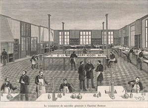 LOUIS PASTEUR (1822-1895) French biologist and chemist. The Pasteur Institute in Paris shortly after opening in 1888.