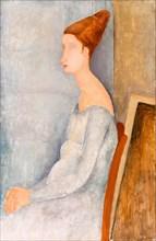 Amedeo Modigliani, painting, Portrait of Jeanne Hébuterne, 1918