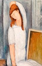 Amedeo Modigliani, Portrait of Jeanne Hébuterne, painting, 1919