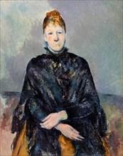 Paul Cezanne, Madame Cézanne, portrait painting, 1885-1887