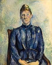 Paul Cezanne, Madame Cézanne, portrait painting, circa 1890