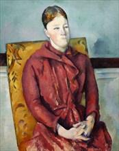 Madame Cézanne en robe rouge