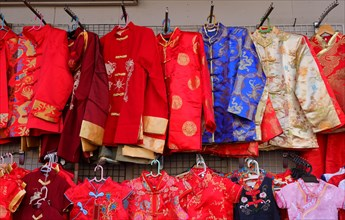 Chinese male traditional dresses called changshan, lower row are female dresses called cheongsam or qipao, usually worn during chinese celebration