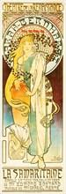 Alphonse Mucha, La Samaritaine: (Sarah Bernhardt), Art Nouveau poster, 1897