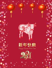 Happy chinese new year 2021 card