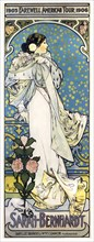 Alphonse Mucha, advertising poster for  Sarah Bernhardt, 1905