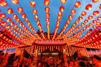 The Lanterns of Thean Hou temple during the Chinese New Year, Kuala Lumpur, Malaysia.