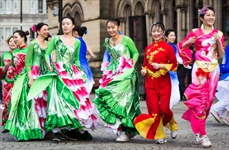 Manchester celebrates Chinese New Year today (Sunday 7th Feb 2016) with a dragon parade and traditional dancing through the city