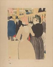 At the Moulin Rouge:  La Goulue and Her Sister, Henri de Toulouse-Lautrec, 1892