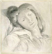 Rossetti  Dante Gabriel - Portrait of Elizabeth Siddal