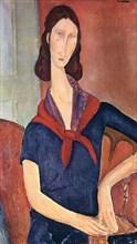 Amedeo Modigliani - Jeanne Hebuterne With Scarf 1919
