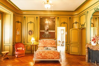 Rosemonde's chamber at Villa Arnaga at Cambo-les-Bains, home to the poet Edmond Rostand, author of Cyrano de Bergerac; Pays Basque, France
