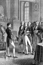 Louis de Fontanes congratulating Napoleon