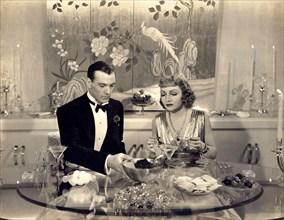 "1938 , USA : The movie actors GARY COOPER and CLAUDETTE COLBERT in "" Bluebeard's Eight Wife "" ( 1938 - L' ottava moglie di Barbablu' ) by Ernst Lubitsch - MOVIE - FILM - CINEMA - marito e moglie - mat..."
