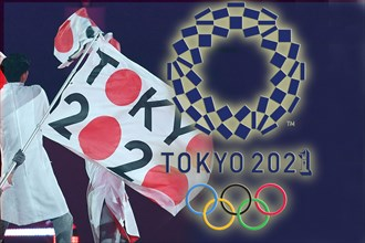 PHOTO ASSEMBLY: Olympic Games to be opened in Tokyo on July 23, 2021 Stock photo: Tokyo 2020, venue for the next Summer Olympics. Closing Ceremony, Closing Ceremony, Maracana Stadium on August 21st, 2...