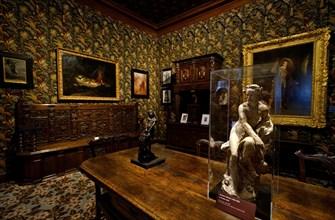 Interior of Maison de Victor Hugo-Victor Hugo house museum.Place de Vosges.Le Marais.Paris.France